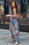 Szyfonowa długa sukienka letnia kolorowa 0209 R76-1