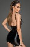 Dopasowana mini sukienka erotyczna F205 tył