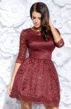 Bicotone 2128-10 sukienka bordowa