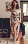 Długa sukienka w kwiaty L033