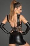 Erotyczna sukienka wetlook F212 tył