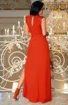 Bicotone 2168-02 sukienka czerwona tył