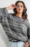 Oversizowy sweter multikolot F1163