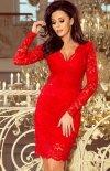Koronkowa dopasowana sukiena Numoco czerwona 170-6