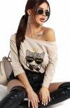 Kobieca bluzka z tygrysem 102-21
