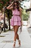 Top i spódniczka Costa  różowa-1