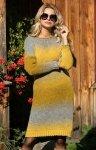 Fobya F579 sukienka żółty