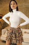 Mini spódniczka w kwiaty 03