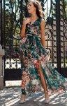Szyfonowa długa sukienka letnia kolorowa 0209 R71