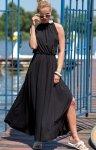 Efektowna sukienka maxi czarna F1251