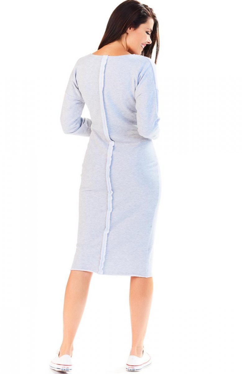 b5dad42bd2 Awama A197 sukienka szara - Długie sukienki - Sportowe sukienki ...