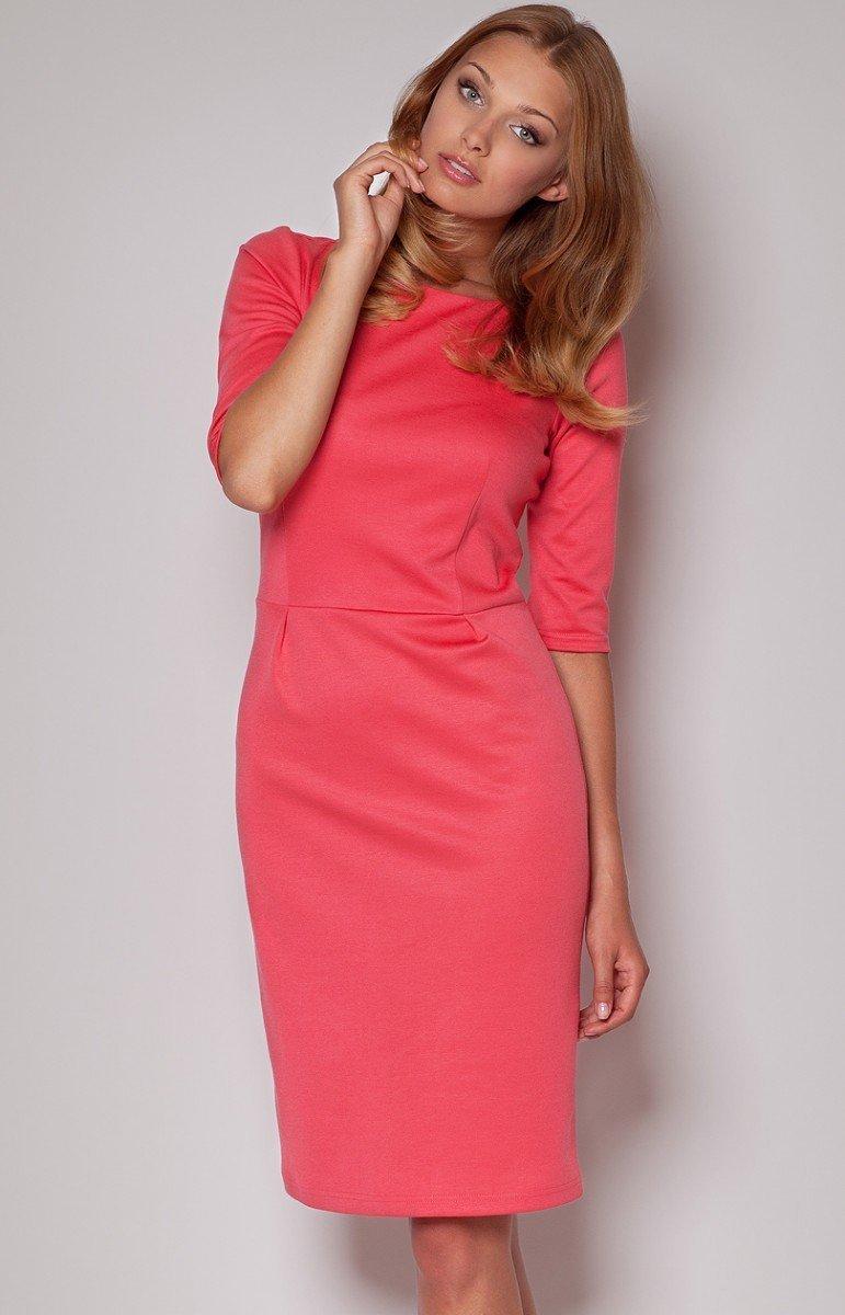 79ff8c441c Figl M202 sukienka koralowy - Odzież damska Figl - Koszule i Bluzki ...