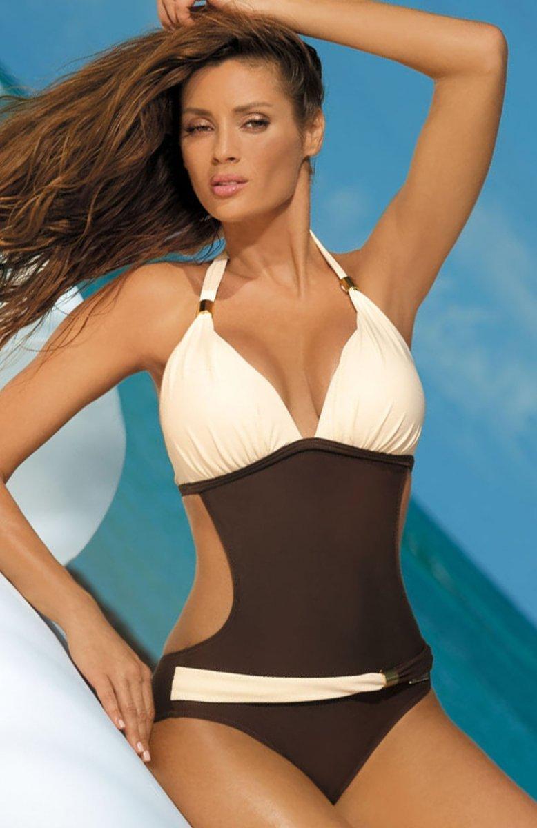 b9830babd6a3c2 Marko Beatrix Moka-Avorio M-337 kostium kąpielowy - Jednoczęściowy ...