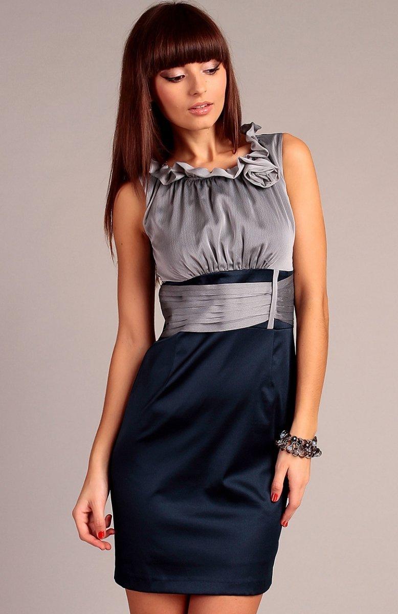 48c91077ba Vera Fashion Nicole sukienka szara - Sukienki wizytowe Vera Fashion ...
