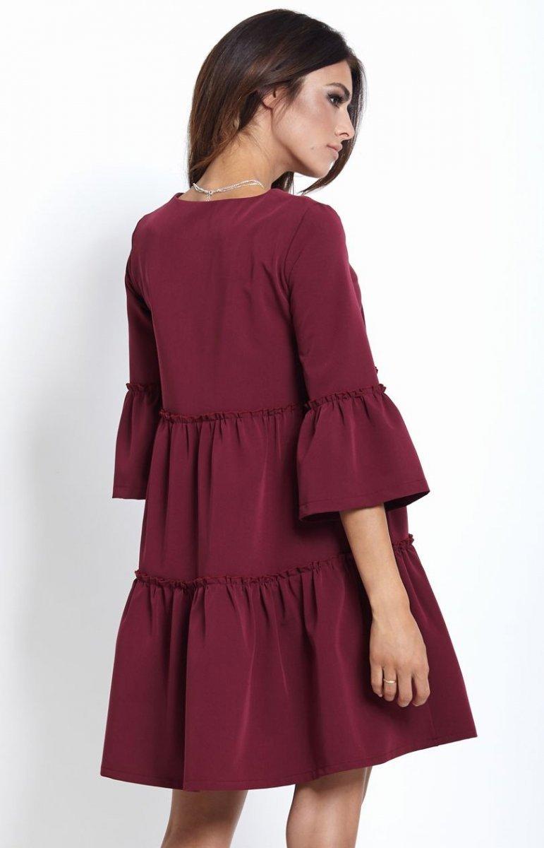5556169071 Ivon Greta sukienka bordowa - Sukienki dzienne - SUKIENKI - Moda ...