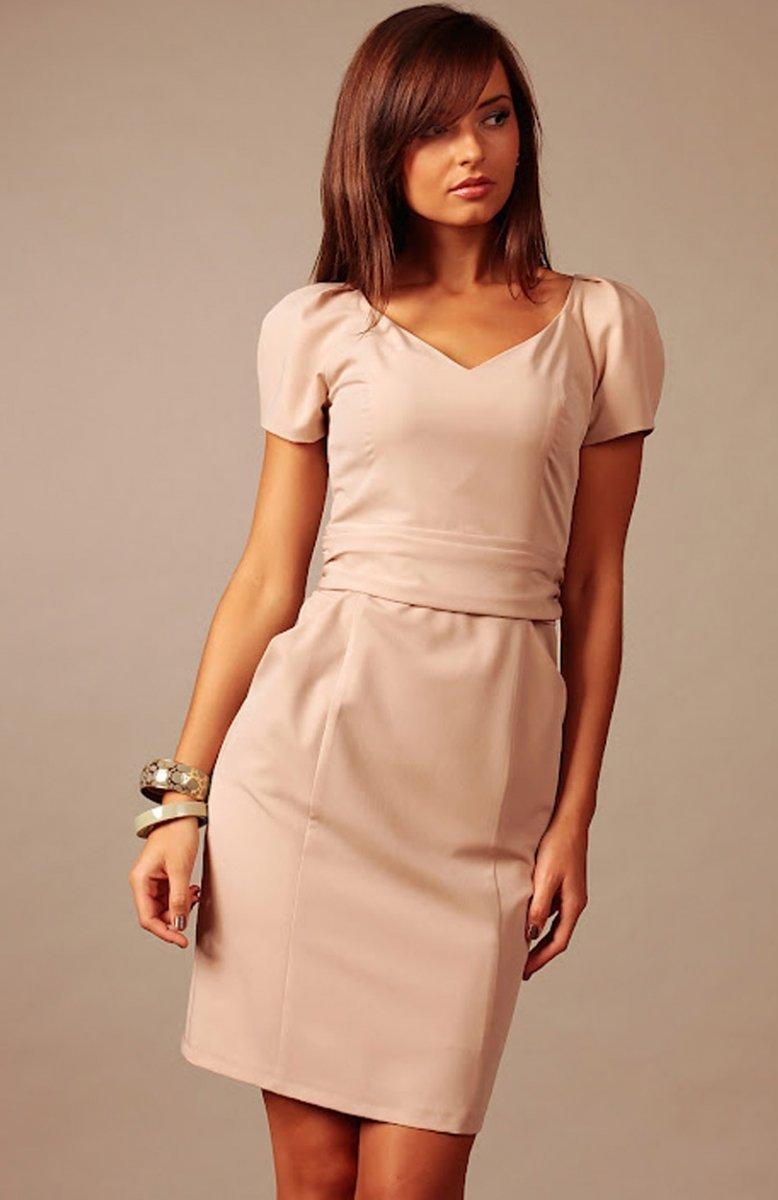 df525122fe Vera Fashion Michelle sukienka cappucino - Sukienki wizytowe Vera ...