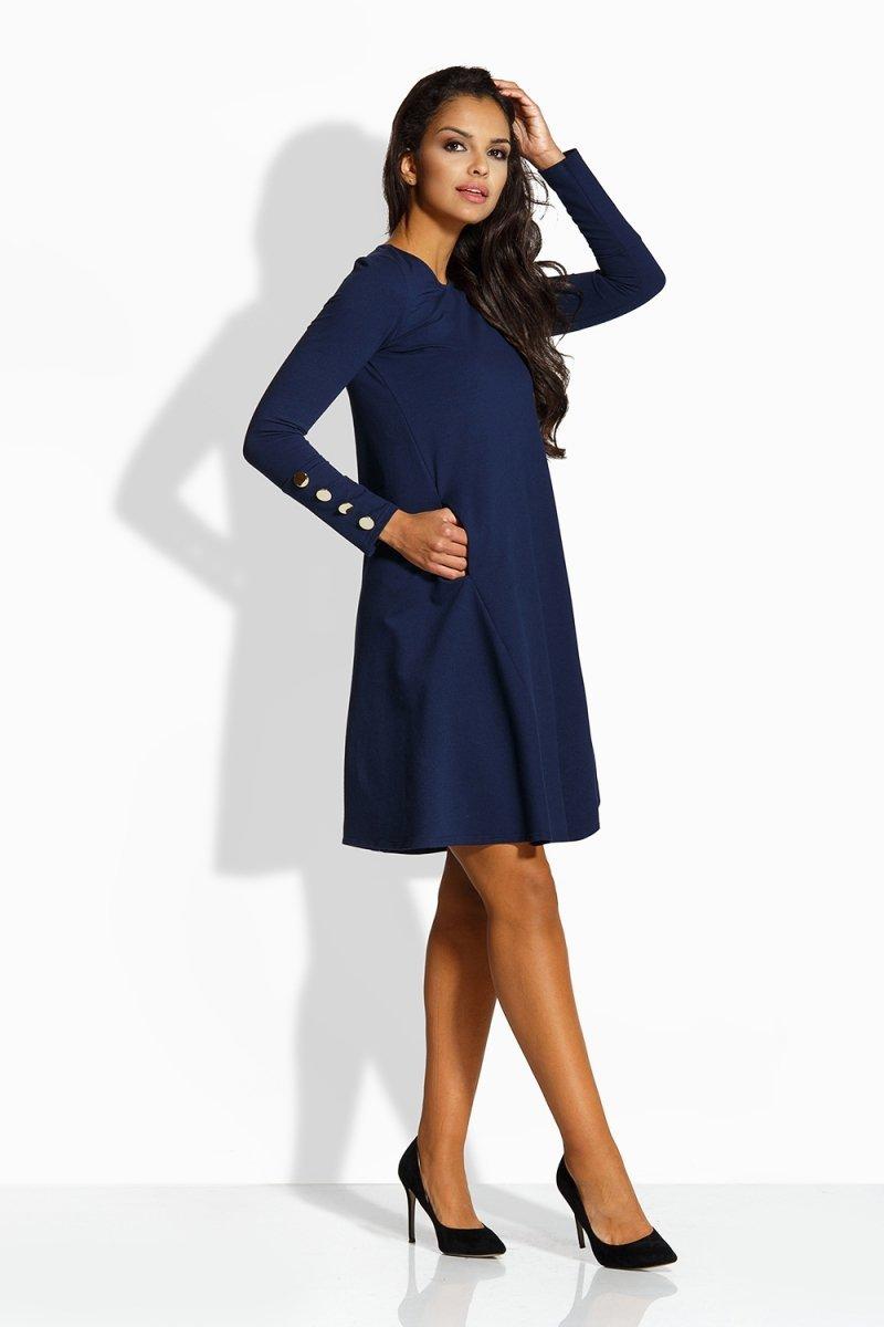 e3610dd1e9 Lemoniade L217 sukienka granatowa - Eleganckie sukienki wizytowe ...