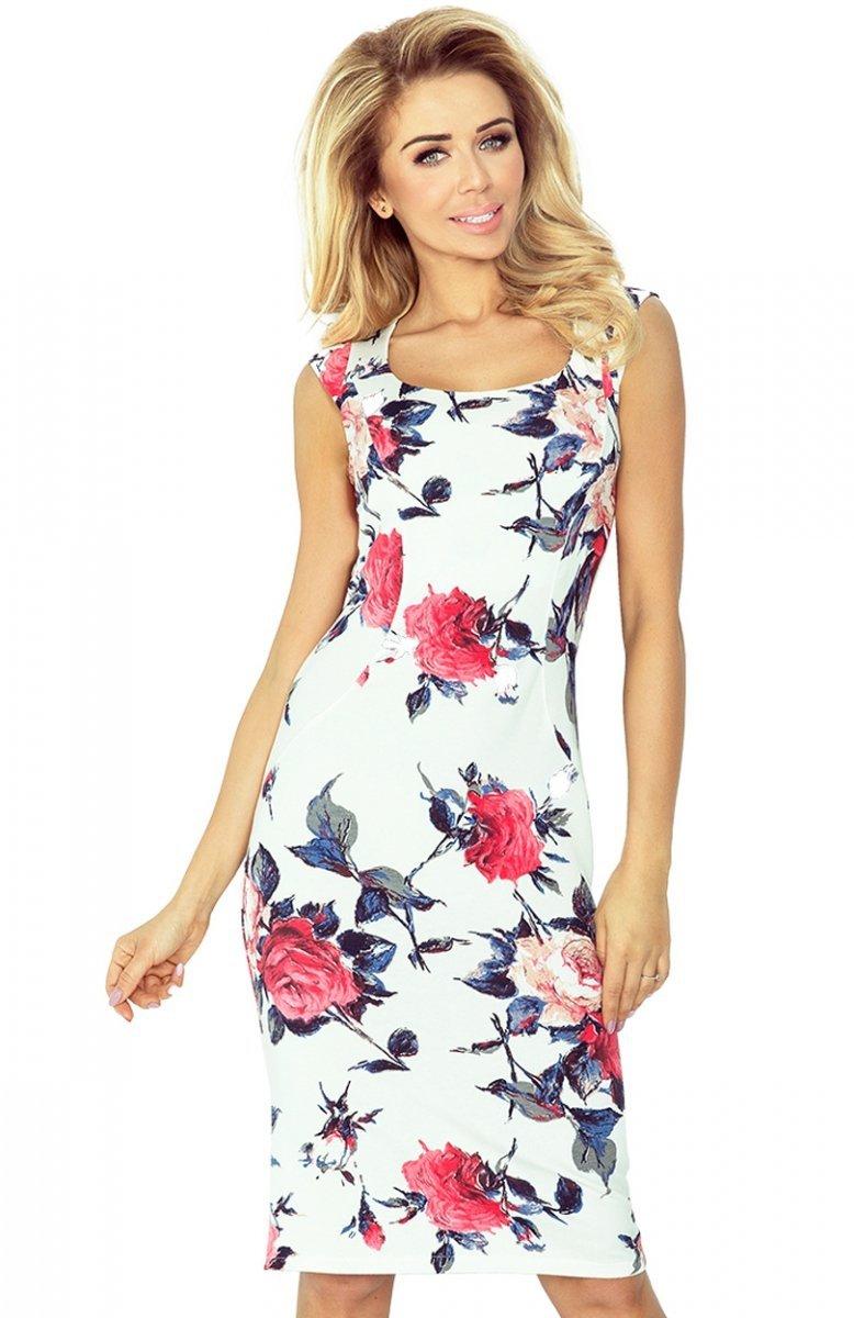 ed28e19495 SAF 53-30 sukienka kolorowe kwiaty - Sukienki wiosenne - Sukienki ...