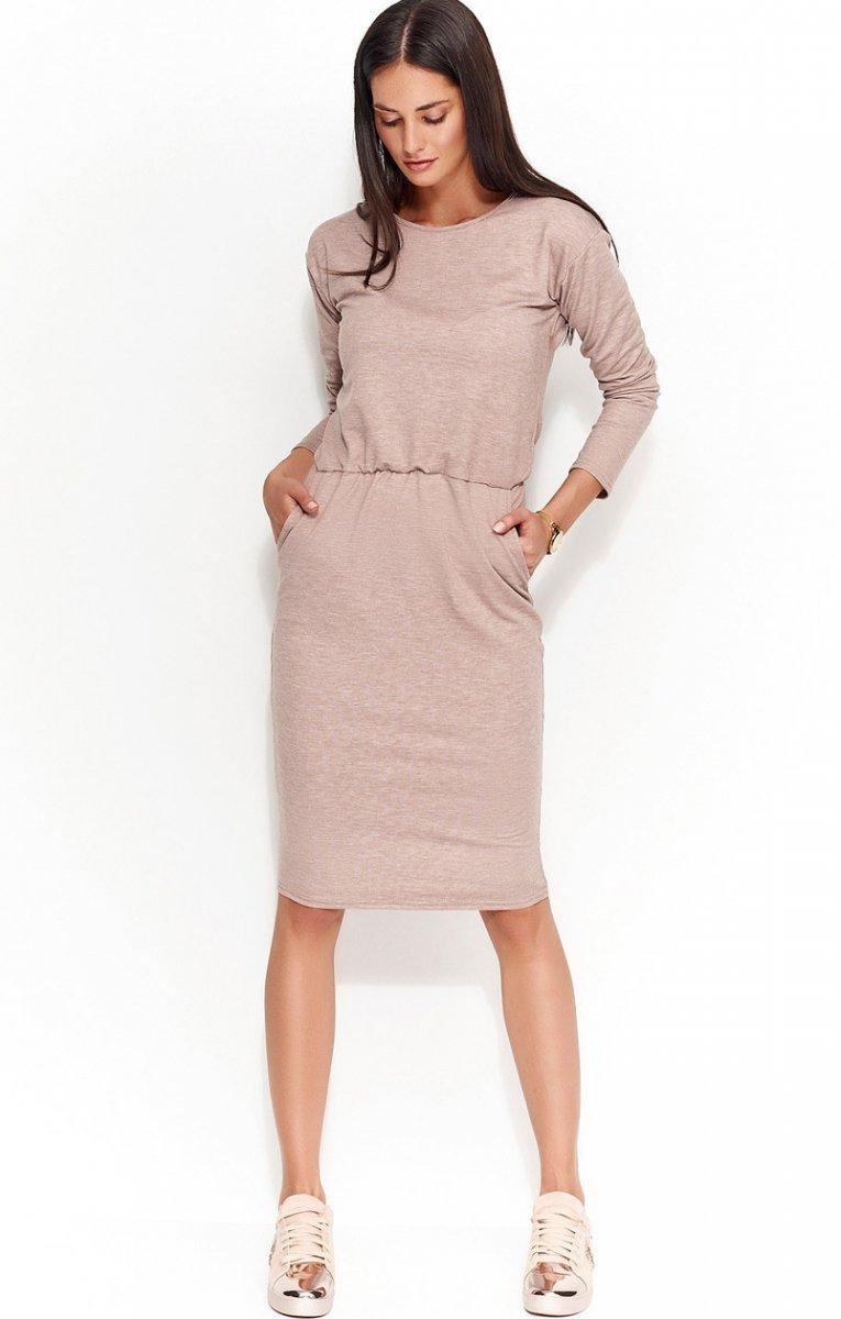 c6a7f2b296fb30 Numinou NU57 sukienka cappucino - Modne sukienki damskie 2017 ...