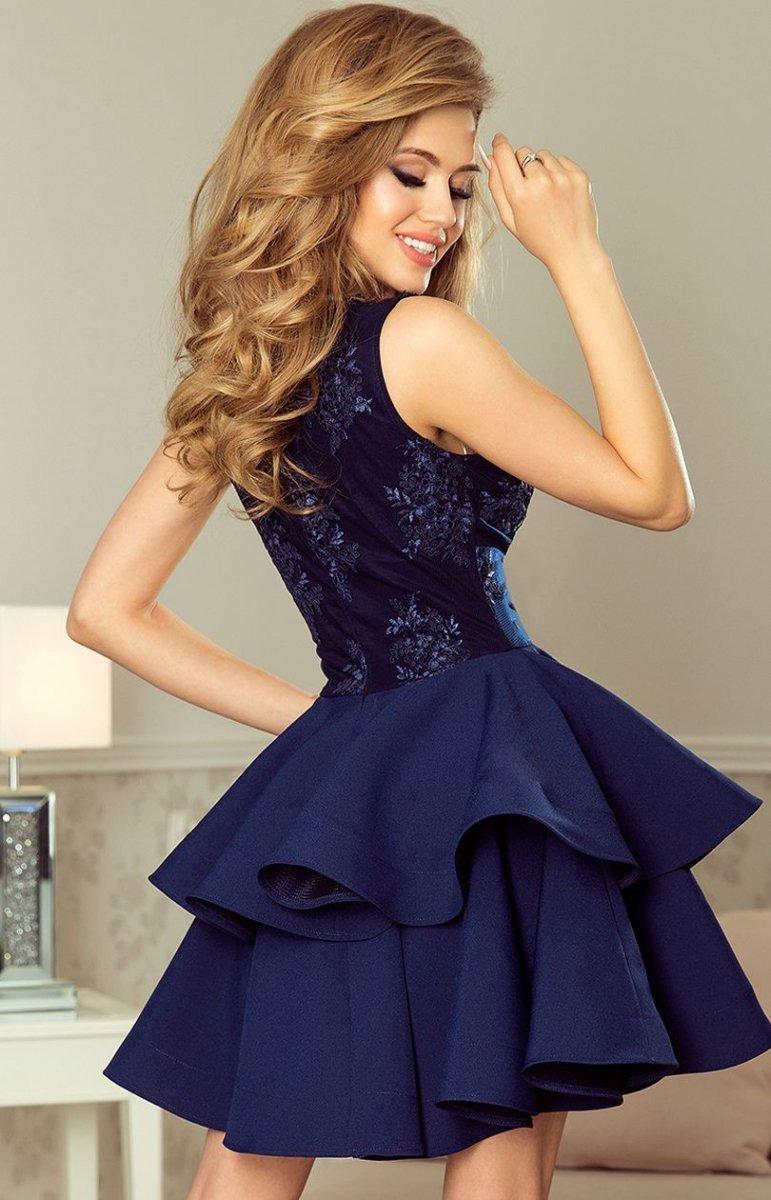 7b1f7d2c Numoco 200-2 Charlotte sukienka granatowa - Sukienki na wesela i ...