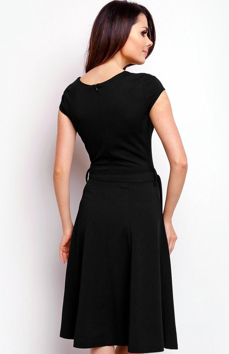 aebd071028 Nommo NA401 sukienka czarna - Sukienki do biura i do pracy ...