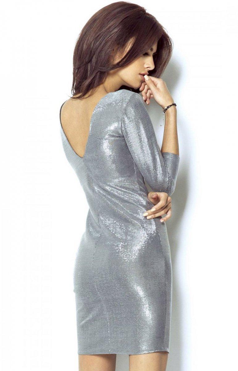 5b4902bdb4 Ivon 208 sukienka srebrna - Eleganckie sukienki damskie ...