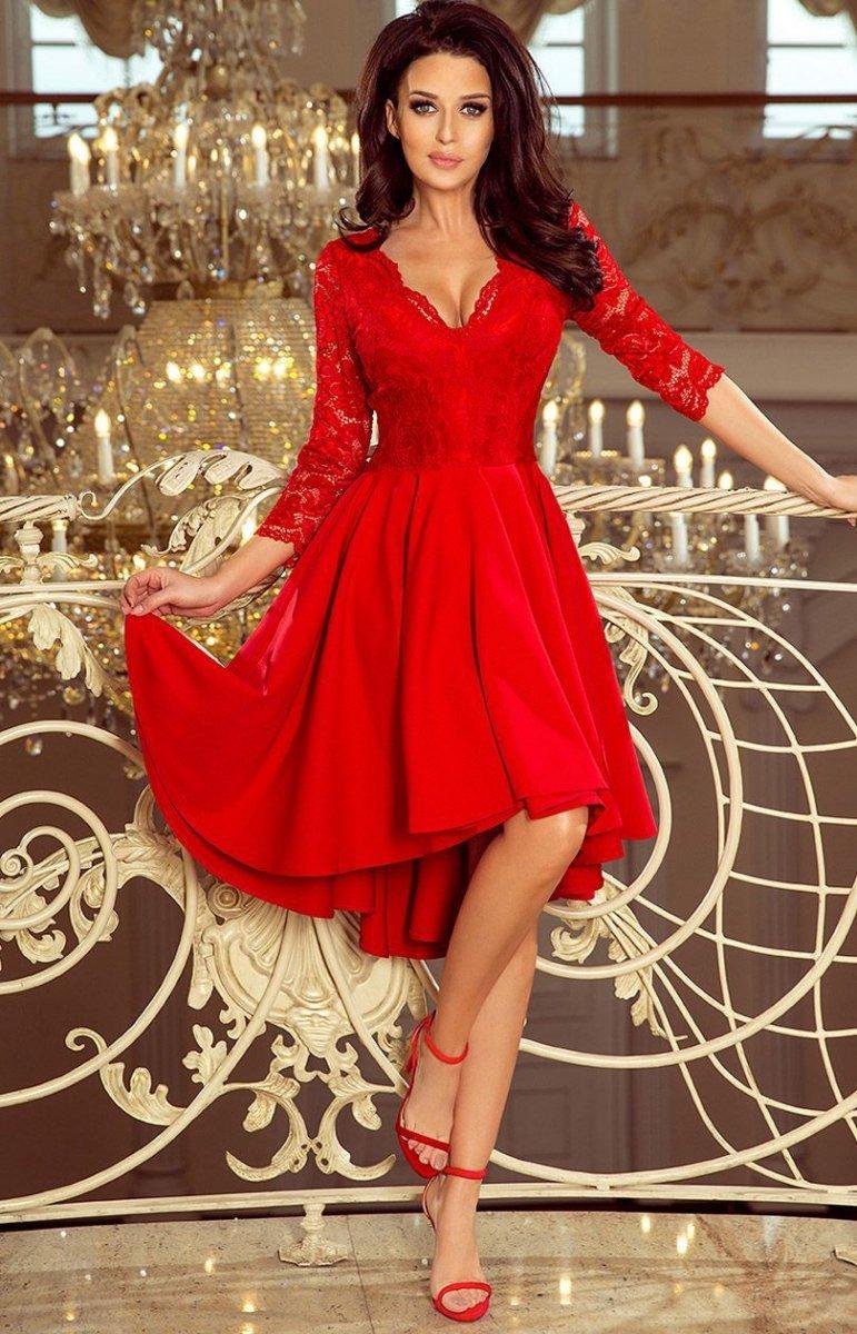 17c5367b82 Sukienka z dłuższym tyłem Numoco 210-6 - Sukienki wieczorowe - Sklep ...