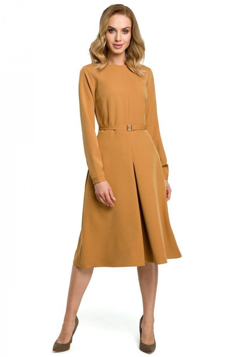 c090ee7079 Sukienka M398 musztardowa Moe - MODA DAMSKA - Sklep internetowy ...
