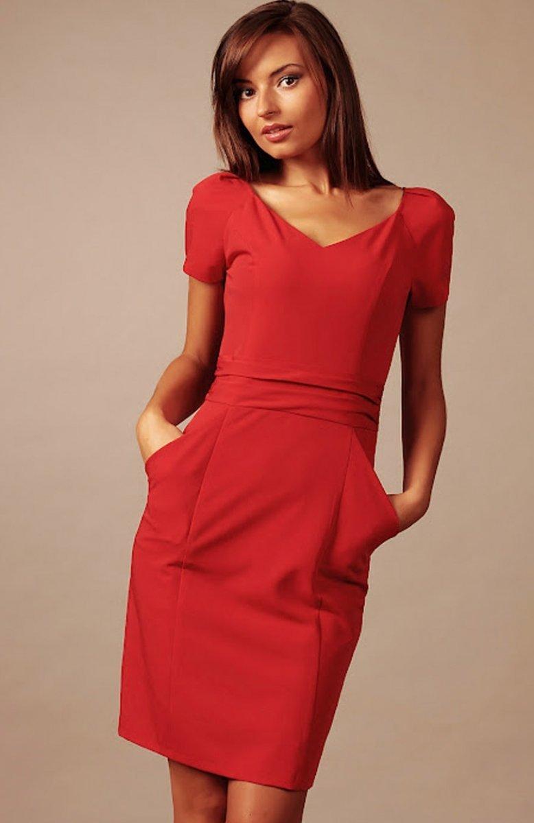 9e2337bb8f Vera Fashion Michelle sukienka czerwona - Sukienki wizytowe Vera ...