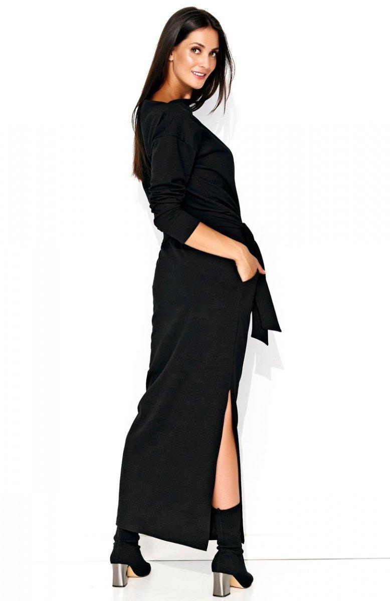 e21a2a28aa7f5c Numinou NU134 sukienka czarna - Sukienki dzienne - Sukienki długie - Moda  damska - Sklep Internetowy Intimiti.pl
