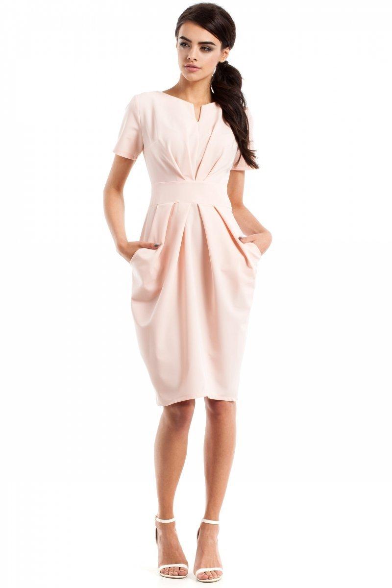 5a4f0efe9c Moe MOE234 sukienka pudrowy róż - Sukienki damskie Moe ...