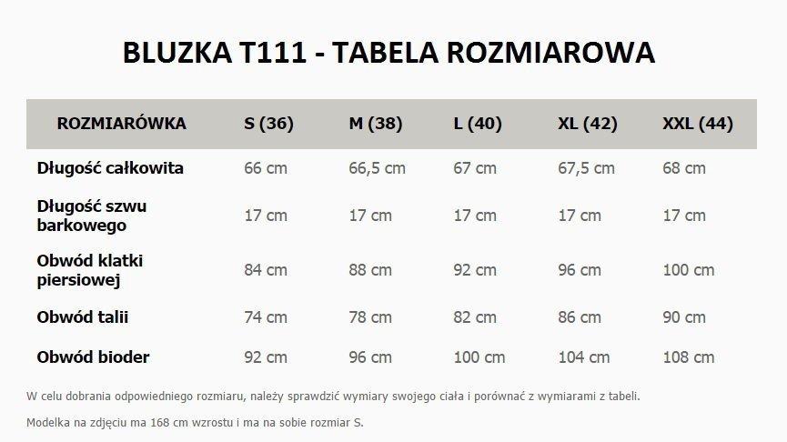 06e8ce50c3553b Tessita T111/1 bluzka czarna - Moda i Odzież damska - Bluzki damskie ...