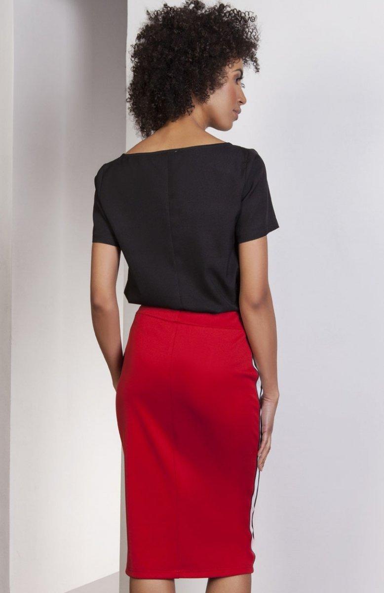 acbc3a9b Lanti SP117 spódnica czerwona - Ołówkowe spódnice dasmkie - Odzież ...