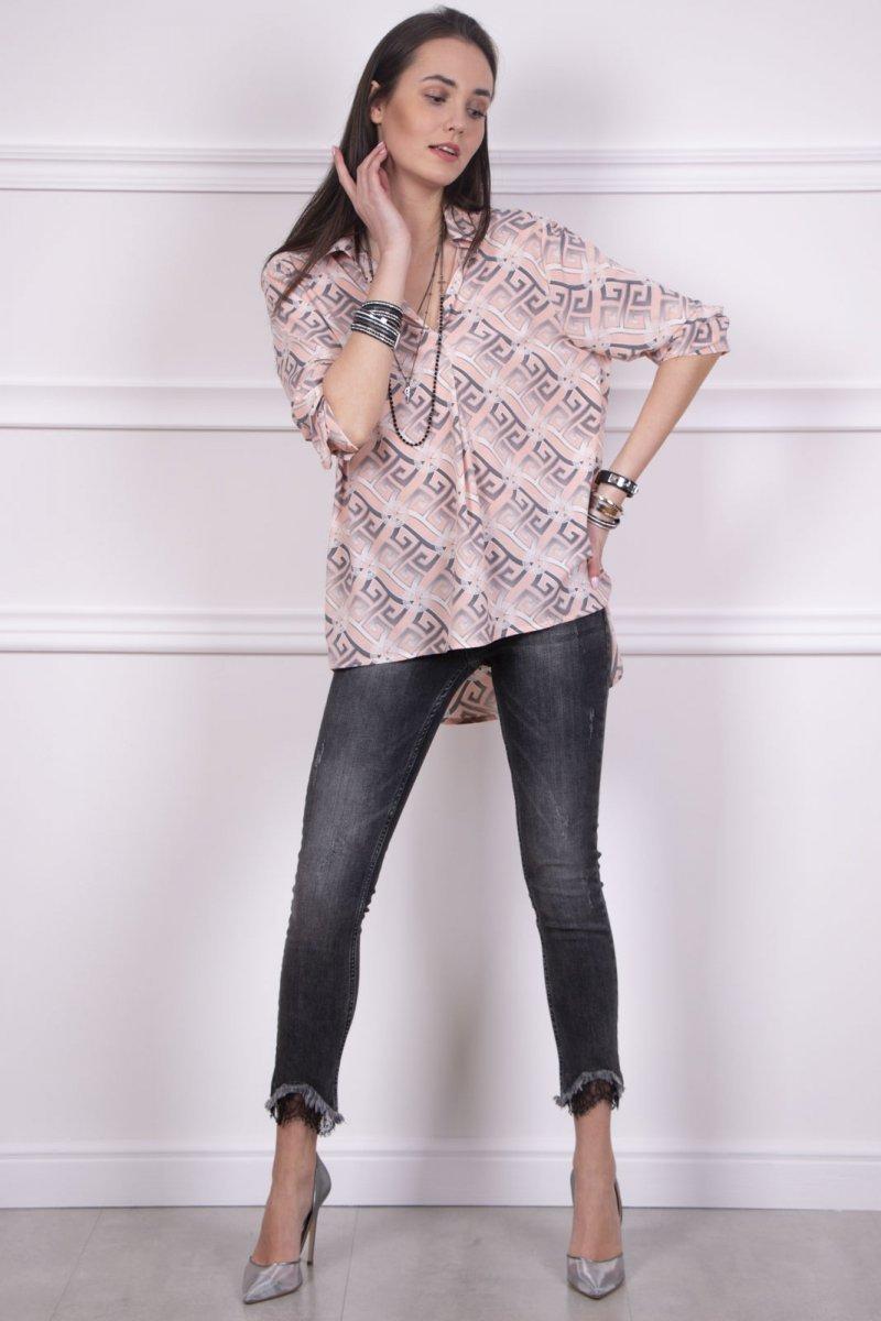 25f40c3278 Oversizowa koszula damska w modny wzór Roco 0051 - Sklep Intimiti.pl