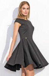 Makadamia M296 sukienka czarna