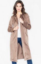 Figl M427 płaszcz brązowy