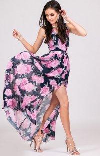 Kwiatowa sukienka maxi D28