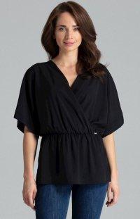 Oversizowa bluzka czarna L063