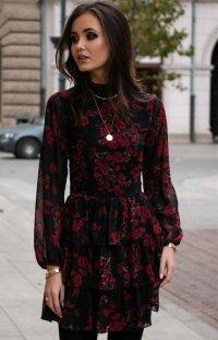 *Kobieca sukienka w róże 0261/D82