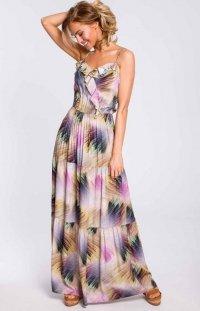 Wzorzysta sukienka maxi M441