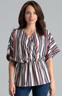 Oversizowa bluzka w paski L063
