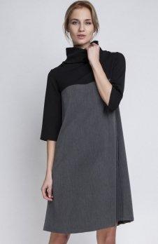 Lanti SUK121 sukienka grafit