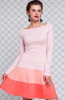 Cover GR993 sukienka brzoskwiniowa