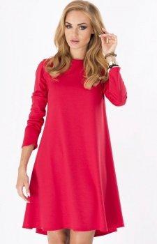Makadamia M123 sukienka czerwona