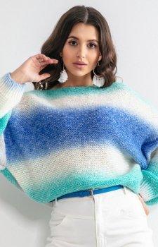 Pastelowy oversizowy sweter F1162