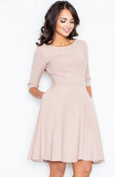 Figl M327 sukienka pudrowy róż