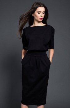 Kasia Miciak design mono sukienka czarna
