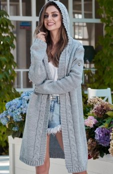 Lemoniade LS213 sweter szary