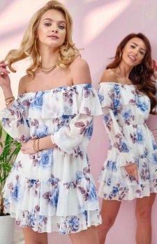 Kwiatowa sukienka hiszpanka 0332/U61