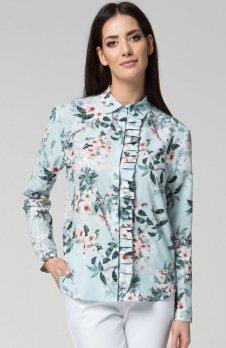 Mosali M037 koszula w jasny wzór